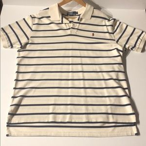 Men's Cream & Blue Polo shirt